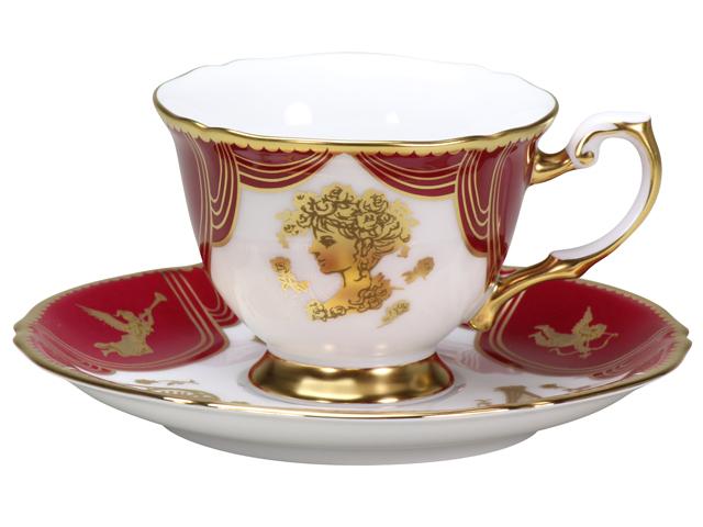 即興詩人「ローマのオペラ座と歌姫」 デミタスカップ&ソーサー