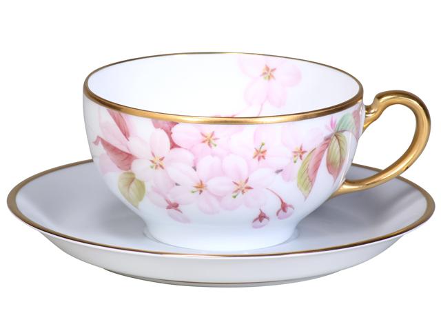 <直営店限定>【手描き】三色桜「大山桜」 カップ&ソーサー