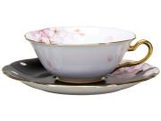 【手描き】碗皿暦 4月「桜」 カップ&ソーサー【100周年記念作品】