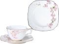 新日本の雅■枝垂桜カップ&ソーサー・ケーキ皿揃【手描き】