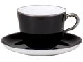 色蒔き(黒) モーニングカップ&ソーサー