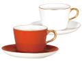 ■予約■ 紅白 モーニングカップ&ソーサーペアセット