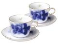 ブルーローズ(8211) モーニングカップ&ソーサーペアセット【イニシャル1文字】