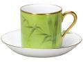 【手描き】碗皿暦 7月「若竹」 カップ&ソーサー【100周年記念作品】