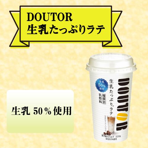 メイトー MEITO ドトール 生乳たっぷりラテ 200g×12本 1セット