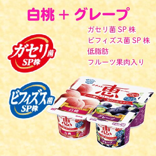えらべるナチュレ恵 白桃+グレープ