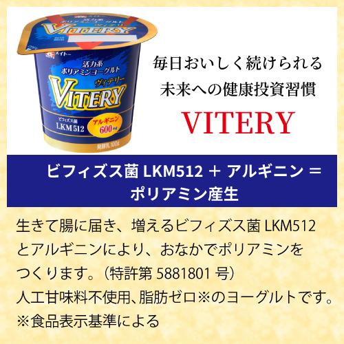 メイトー VITERY 活力系ポリアミンヨーグルト 100g 8個