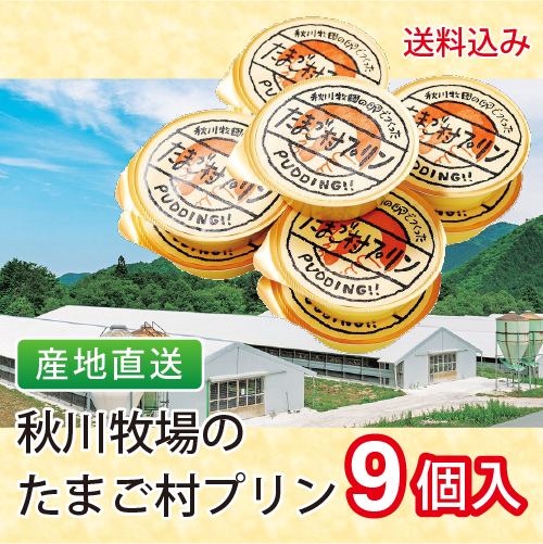 秋川牧園のたまご村プリン 産地直送 送料込み 贈り物 デザート