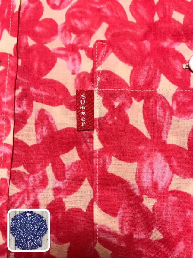 花柄ローンシャツ