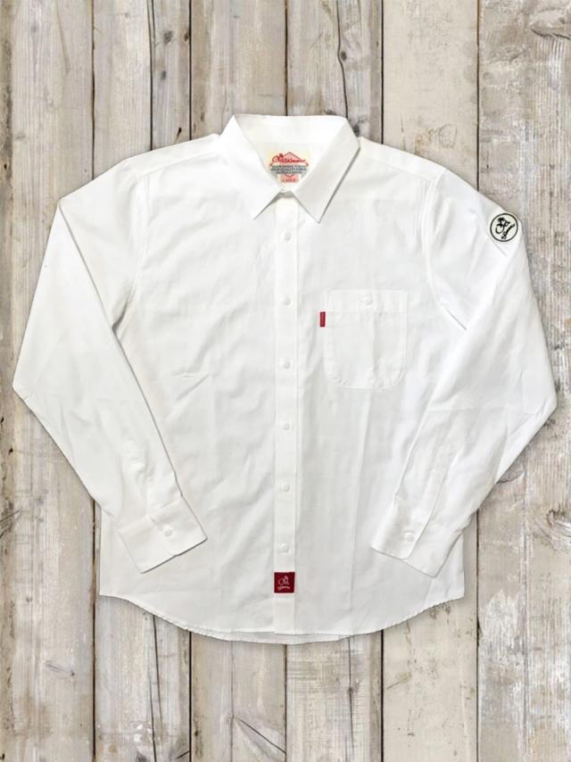 白シャツ(ハイビスカス)