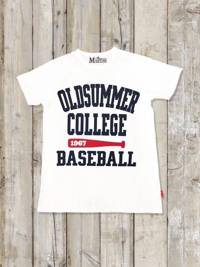 クルーネックTシャツ(OLDSUMMER COLLEGE BASEBALL)
