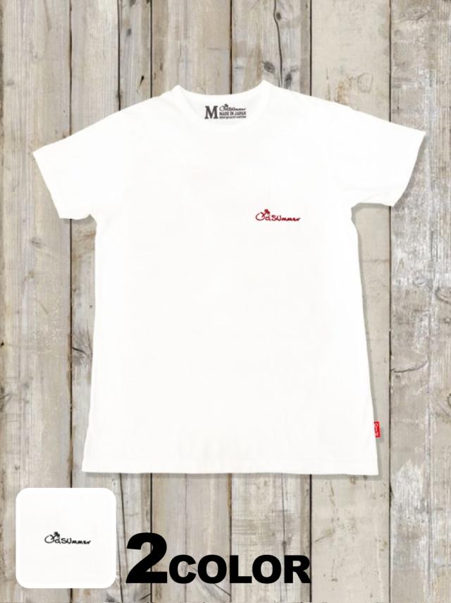 クルーネックTシャツ(LOGO刺繍)