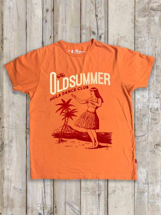 クルーネックTシャツ(HULA DANCE CLUB/オレンジ)