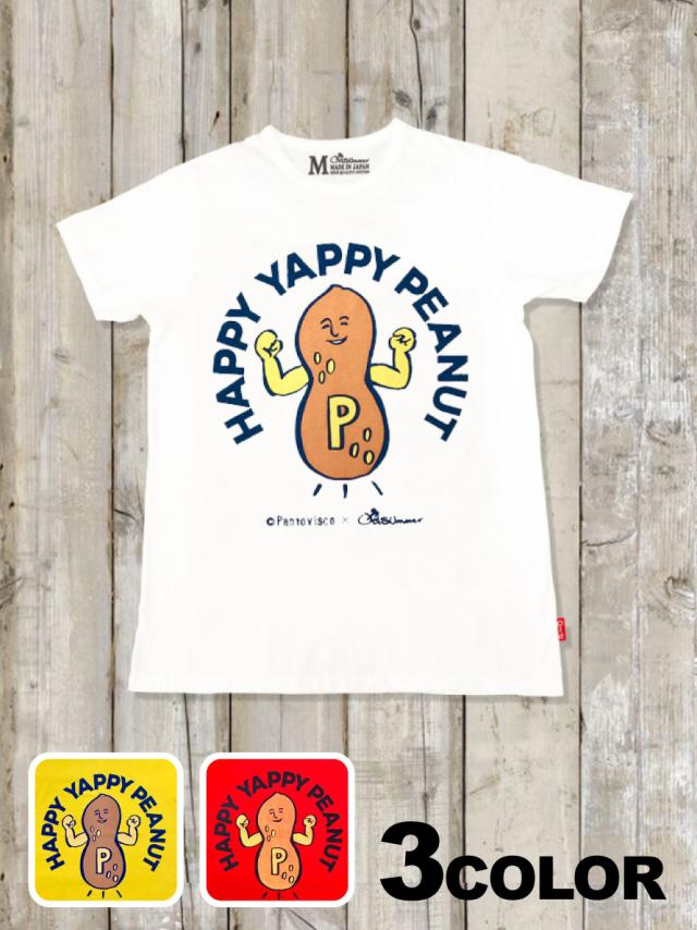 クルーネックTシャツ(HAPPY YAPPY PEANUT)