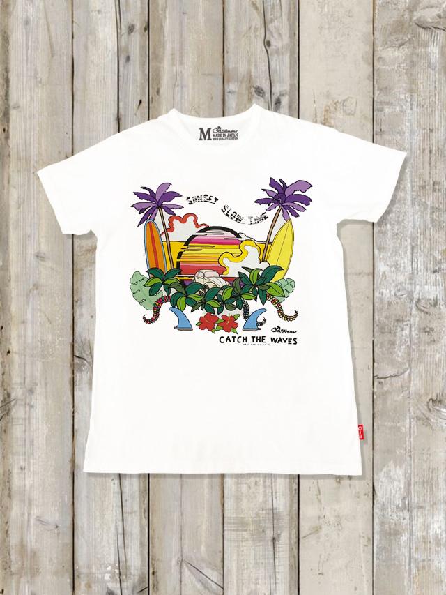 クルーネックTシャツ(SUNSET SLOW TIME)