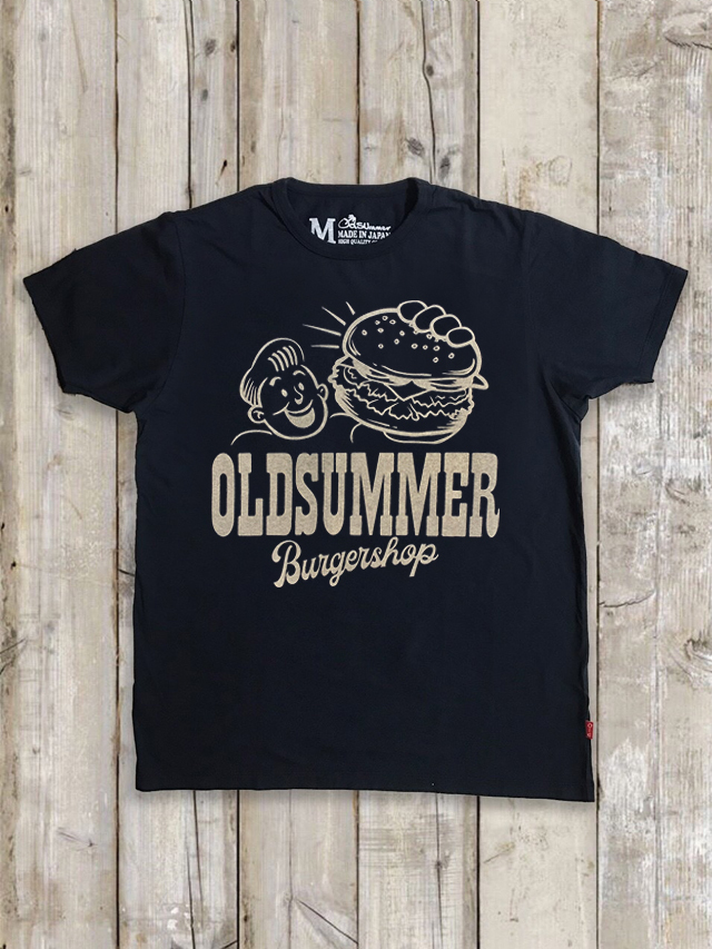 クルーネックTシャツ(BURGER SHOP/紺)