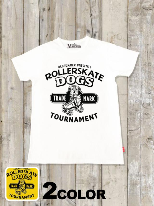 クルーネックTシャツ(ROLLERSKATE DOGS)