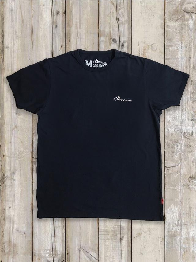 クルーネックTシャツ(LOGO刺繍/紺)