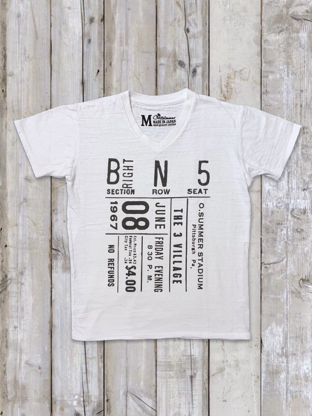 スラブVネックTシャツ(BN5)