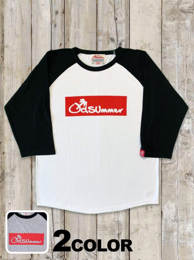 ラグラン7分袖Tシャツ(BOX LOGO)