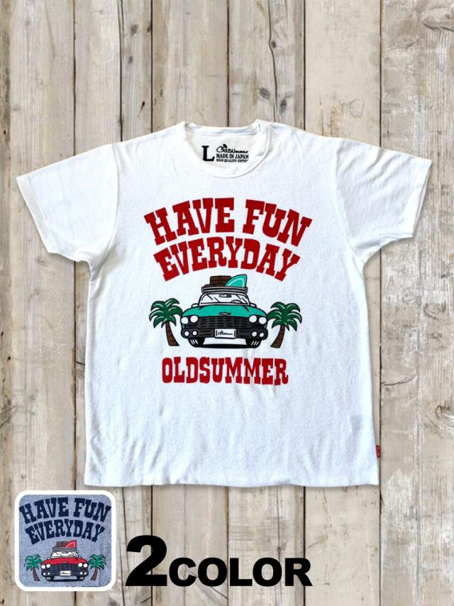 パイル(タオル)Tシャツ(HAVE FUN EVERYDAY)
