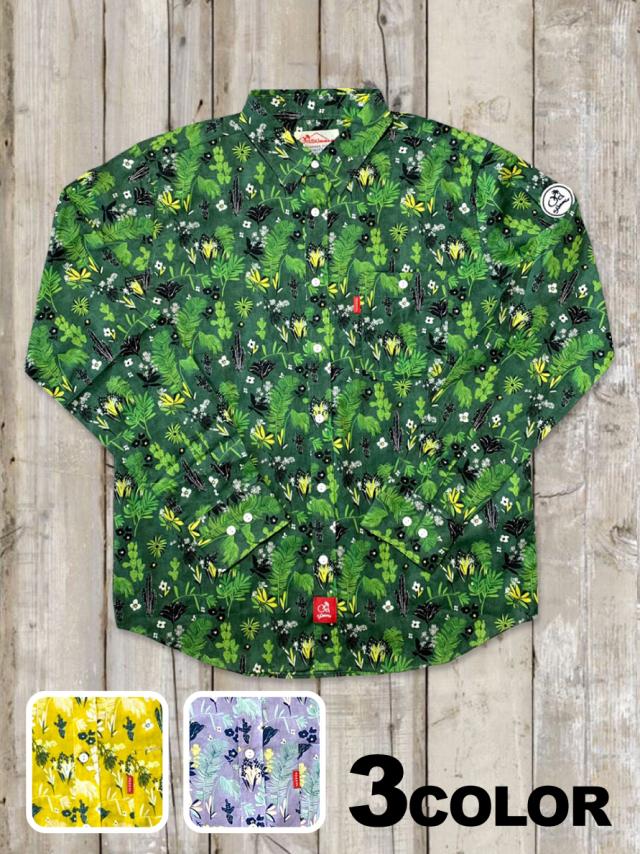 ボタニカルカラーシャツ