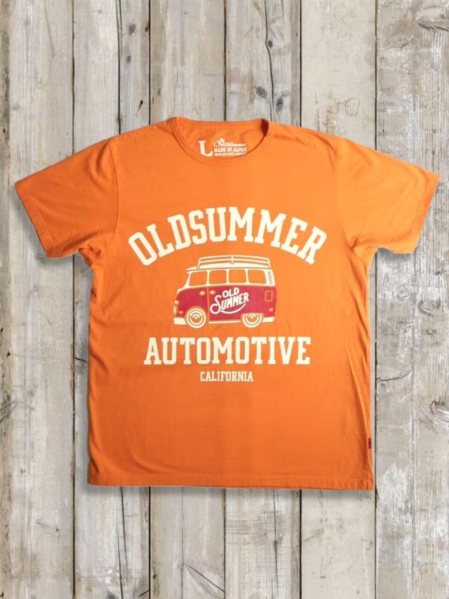 クルーネックTシャツ(AUTO MOTIVE)/オレンジ
