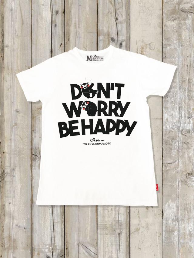 クルーネックTシャツ(DON'T WORRY BE HAPPY くまモンver)