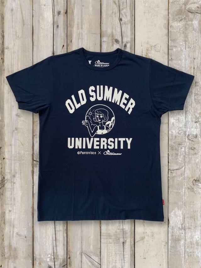 クルーネックTシャツ(OLDSUMMER UNIVERSITY/紺)