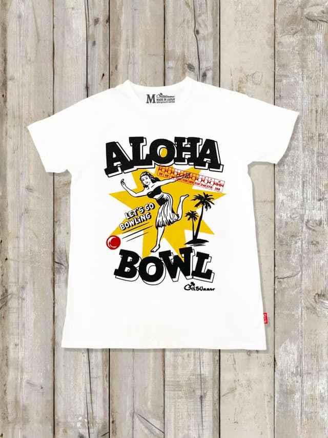 クルーネックTシャツ(ALOHA BOWLING)