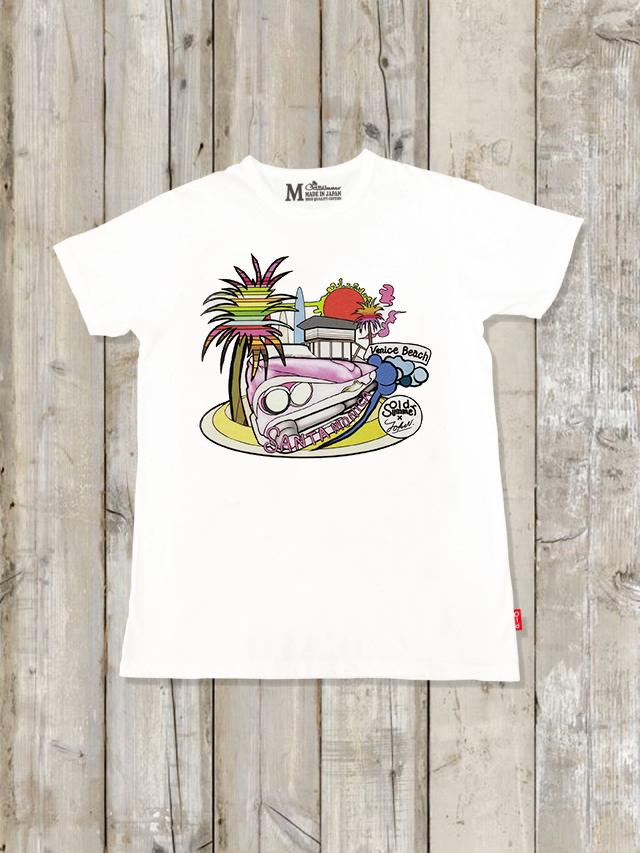 クルーネックTシャツ(SANTA MONICA)