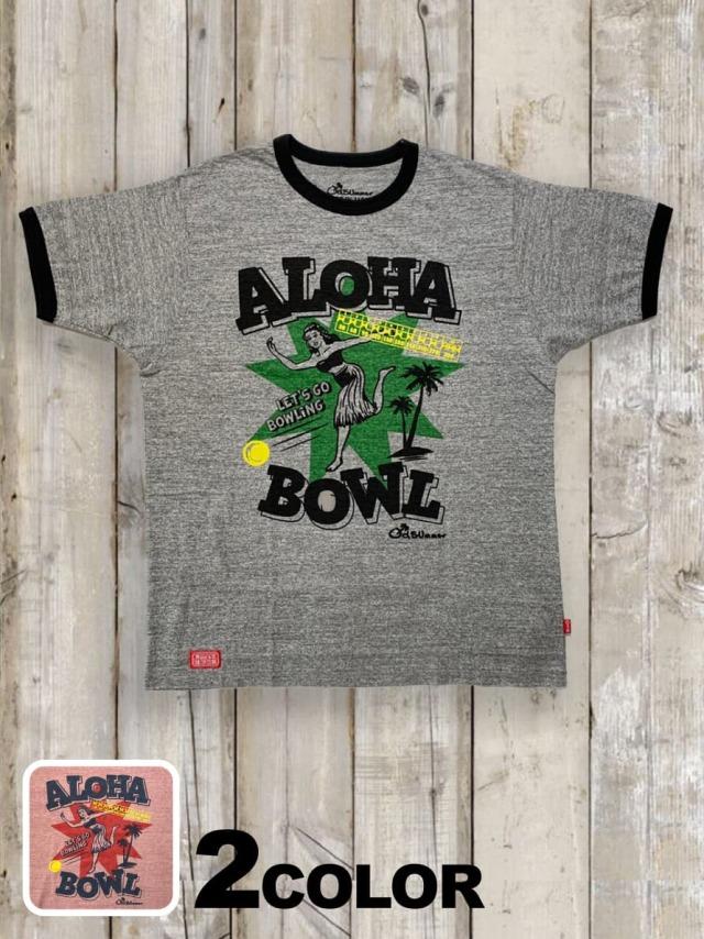 リンガーTシャツ(ALOHA BOWLING)