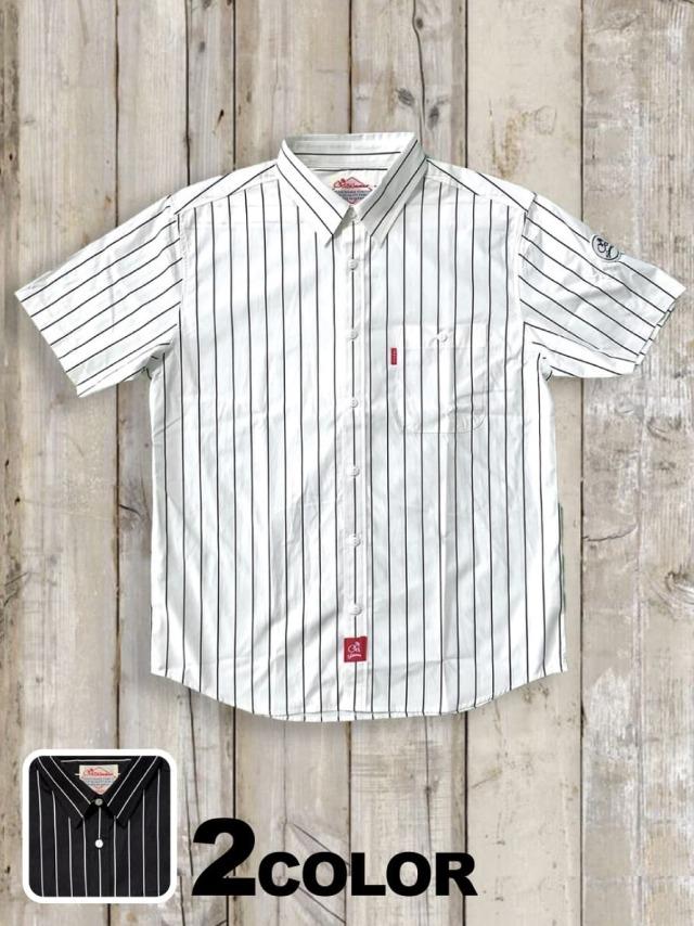 半袖ストライプシャツ