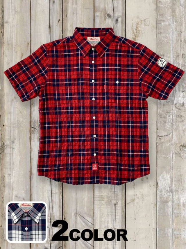 半袖チェックシャツ