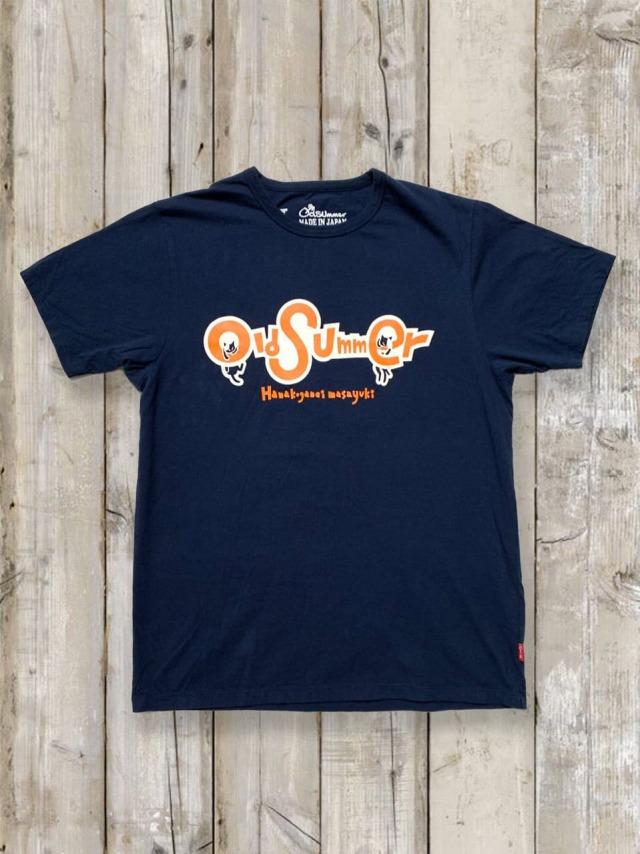 クルーネックTシャツ(HANGING CAT)/紺