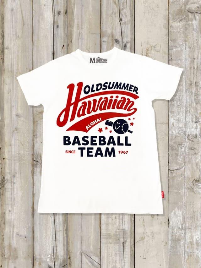 クルーネックTシャツ(Hawaiian BASEBALL)