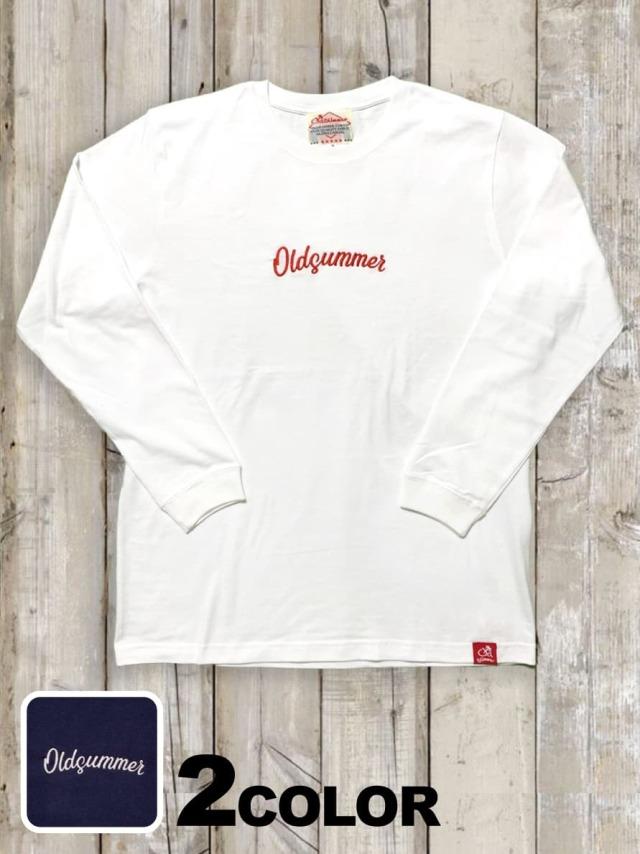 クルーネックロングスリーブTシャツ(OLDSUMMER 刺繍)