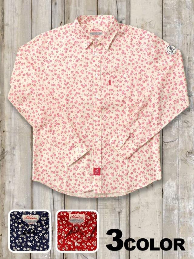 長袖シャツ(桜柄)