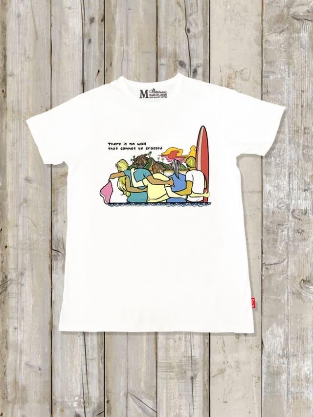 クルーネックTシャツ(There is no wall)