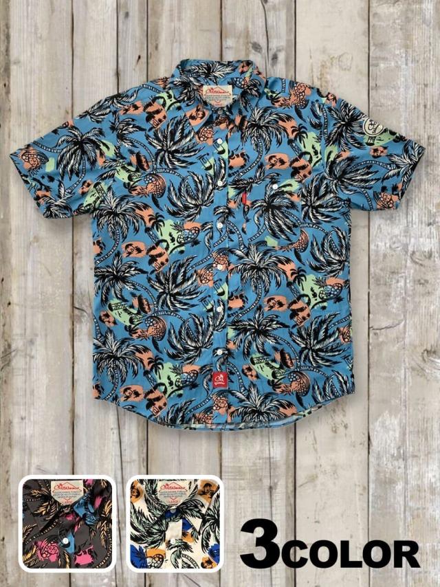 半袖シャツ(ヤシの木柄)