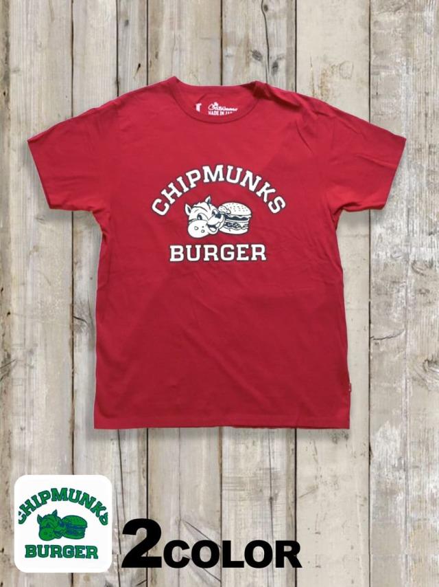 クルーネックTシャツ(CHIPMUNKS BURGER)