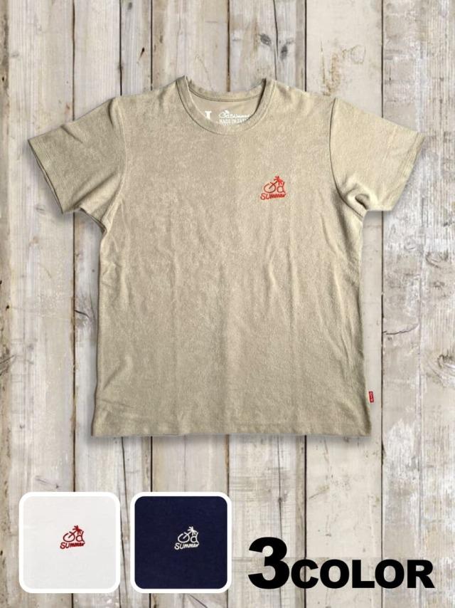 パイル(タオル)Tシャツ(LOGO刺繍)