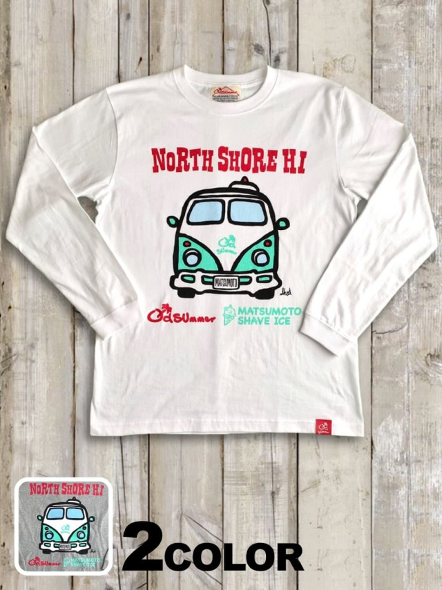 クルーネックロングスリーブTシャツ(NORTH SHORE HI)