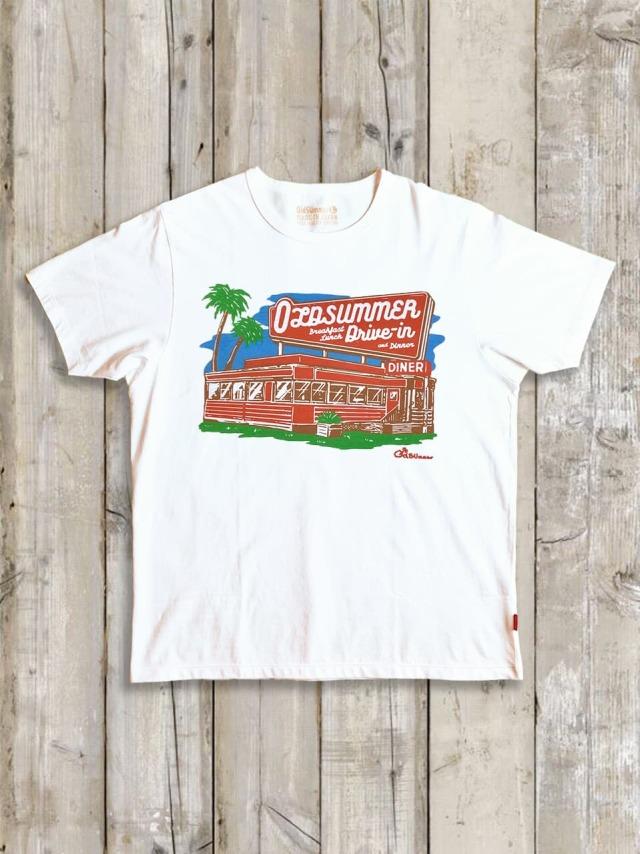 クルーネックTシャツ(OldSUmmer Drive-in)