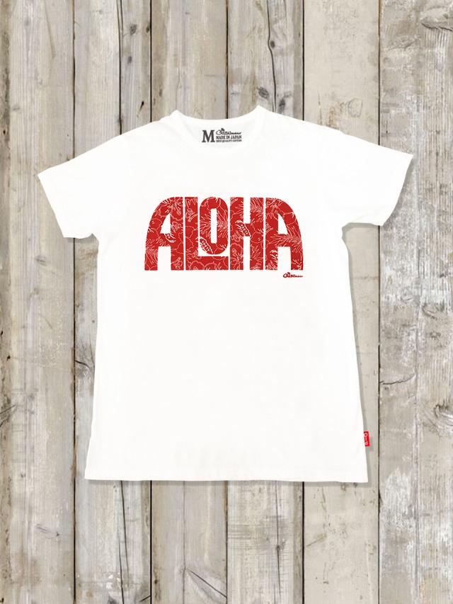 クルーネックTシャツ(ALOHA)