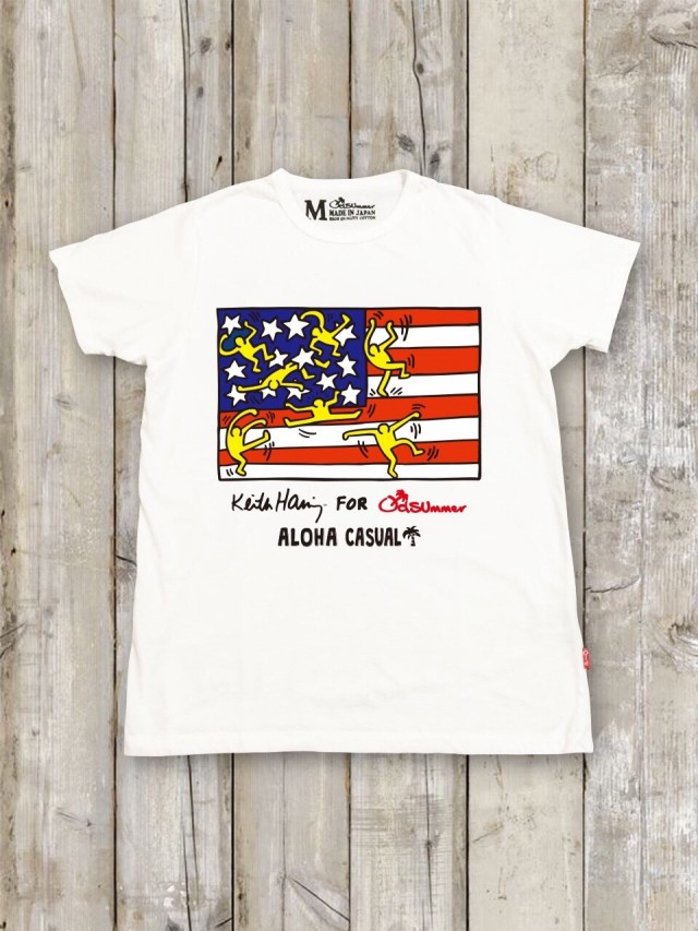 Keith Haring(キース・ヘリング)コラボTシャツ(国旗)