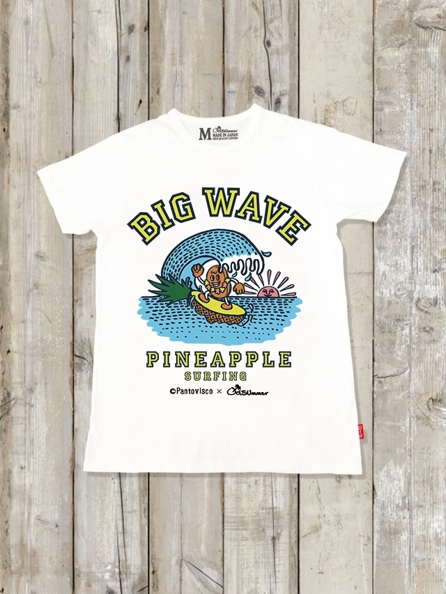 クルーネックTシャツ(BIG WAVE PINEAPPLE SURFING)
