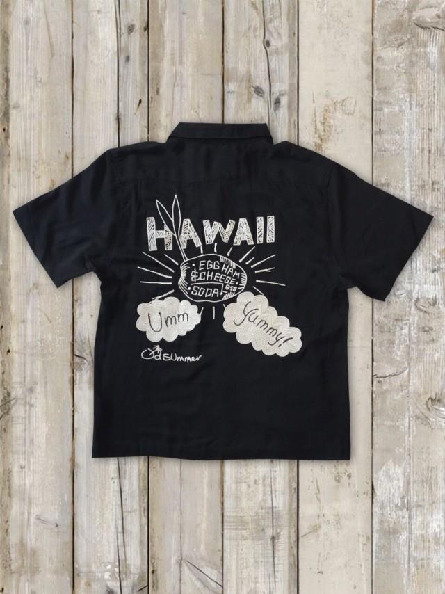 ボーリングシャツ(HAWAII/黒)