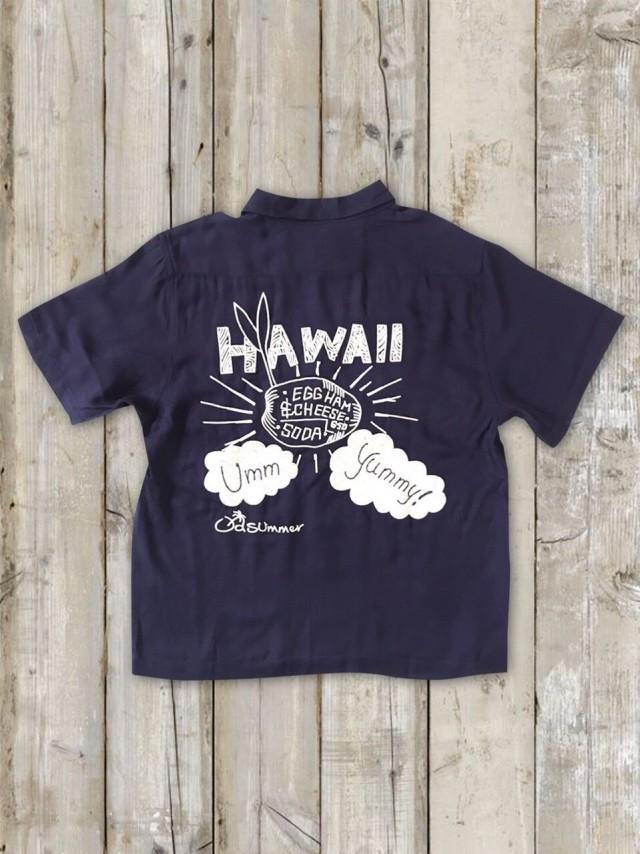ボーリングシャツ(HAWAII/紺)