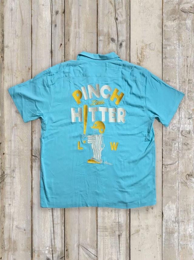 ボーリングシャツ(PINCH LITTLE HITTER/水色)